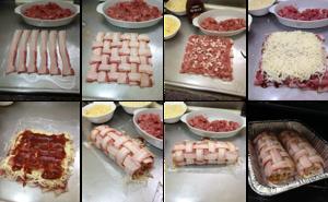 Receita de Rocambole de Carne de Porco com Bacon passos