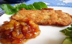 Receita de Schnitzel com purê de maçã