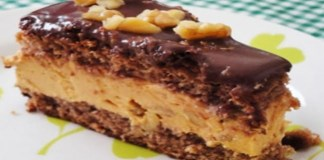 Receita de Torta Mousse de Doce de Leite com Nozes