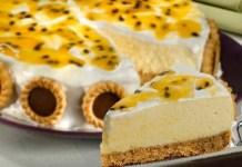 Receita de Torta Mousse de Maracujá com Marshmallow