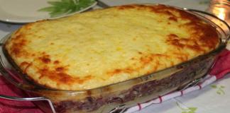 Receita de Torta de Batata Doce com Carne de Sol