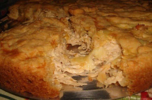 Receita de Torta de Frango e Requeijão