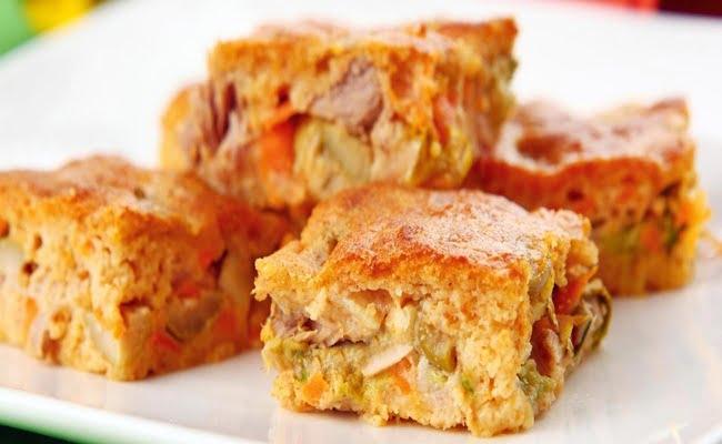 Receita de Torta de legumes sem glúten e sem lactose