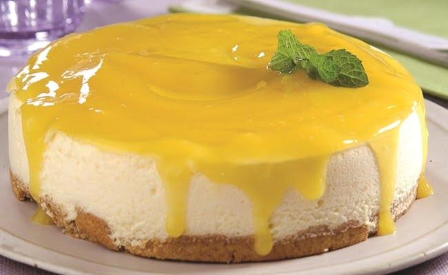 Torta de mousse de maracujá para diabéticos