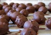Trufas de chocolate no Microondas