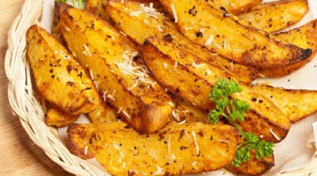 Receita de Batatas Fritas de Forno