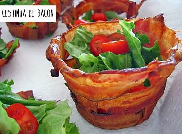Receita de Cestinha de Bacon