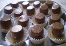 Receita de Mini Bolo Pudim de Morango com Chocolate