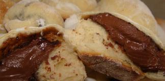 Receita de Pãozinho de Nutella