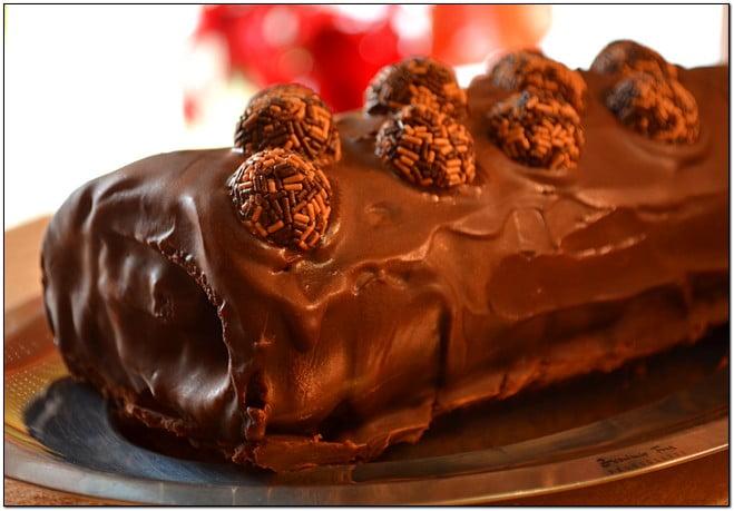 Receita de Rolo de Chocolate