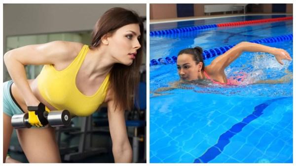 занятия в зале и бассейне