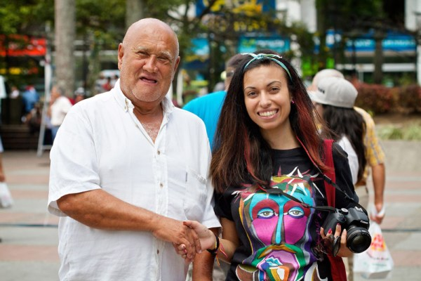 Serving as an evangelist-photographer in Colombia this past July. I made a new friend, who was drawn to the area where we were preparing for Festival Vida.Photo credit: Michael Harrison.