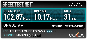 Speedtest 100Mbs
