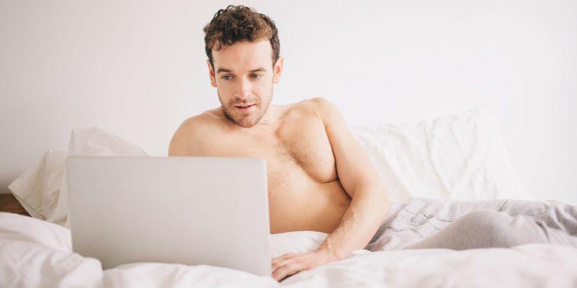 Men in Bed Photo