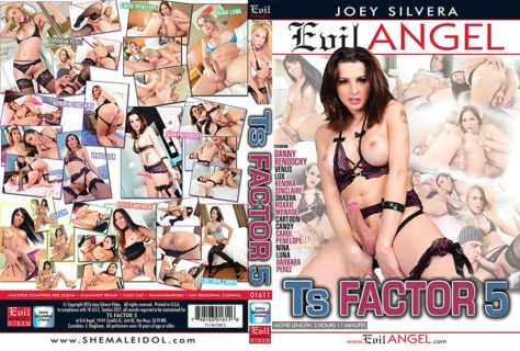 frenching with hot brazilian shemale - TS Factor 5 Porn DVD Image