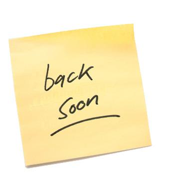 back soon...