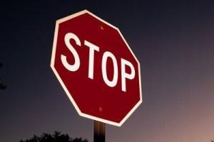 retroreflective stop signs