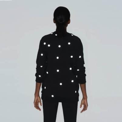 dots printed reflective fabric