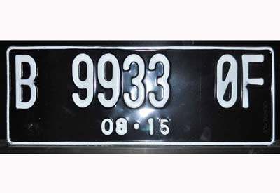 Black reflective license plate sheeting for Indonesia