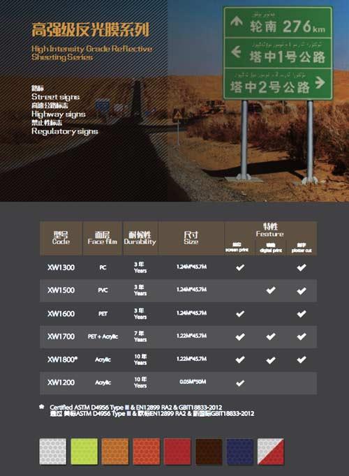 high intensity grade reflective sheeting series catalog