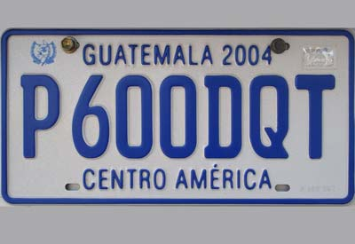 reflective license plate sheeting in Guatemala XW8200