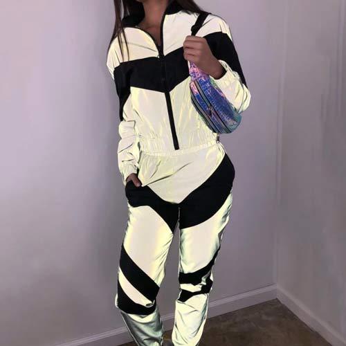 sliver reflective sports clothing