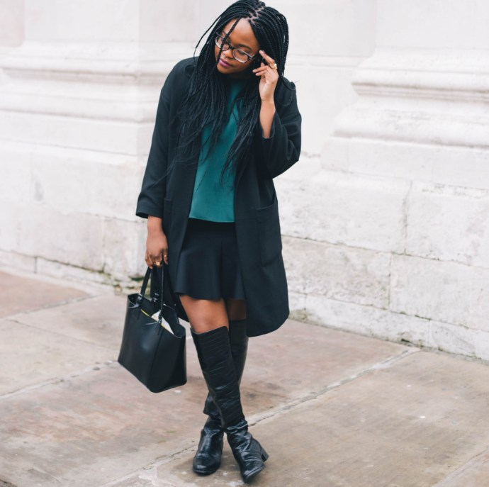 Knee High Boots and skirt