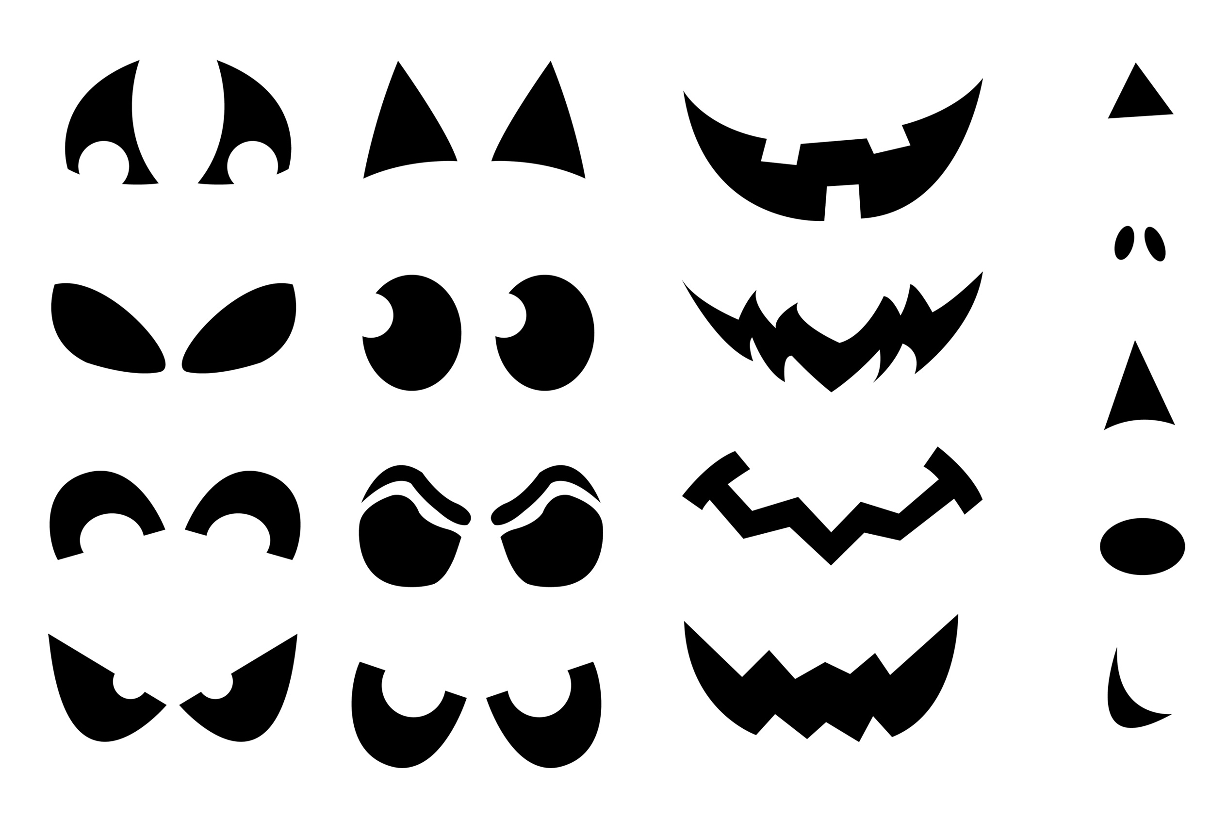 Printable Pumpkin Carving Cutouts For Halloween I Am Krsitin