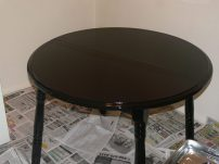 Our new kitchen table that I painted