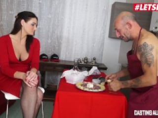 LETSDOEIT. - Busty Italian MILF Gets Both Holes Drilled At Casting
