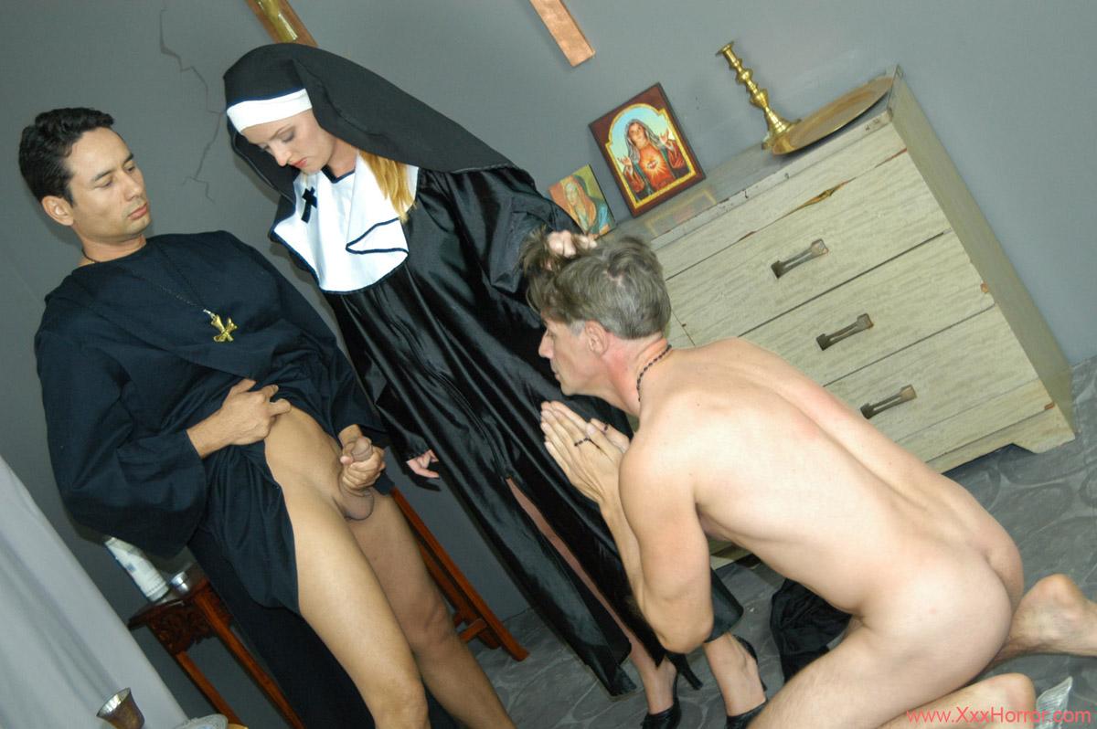 Catholic nuns and priest