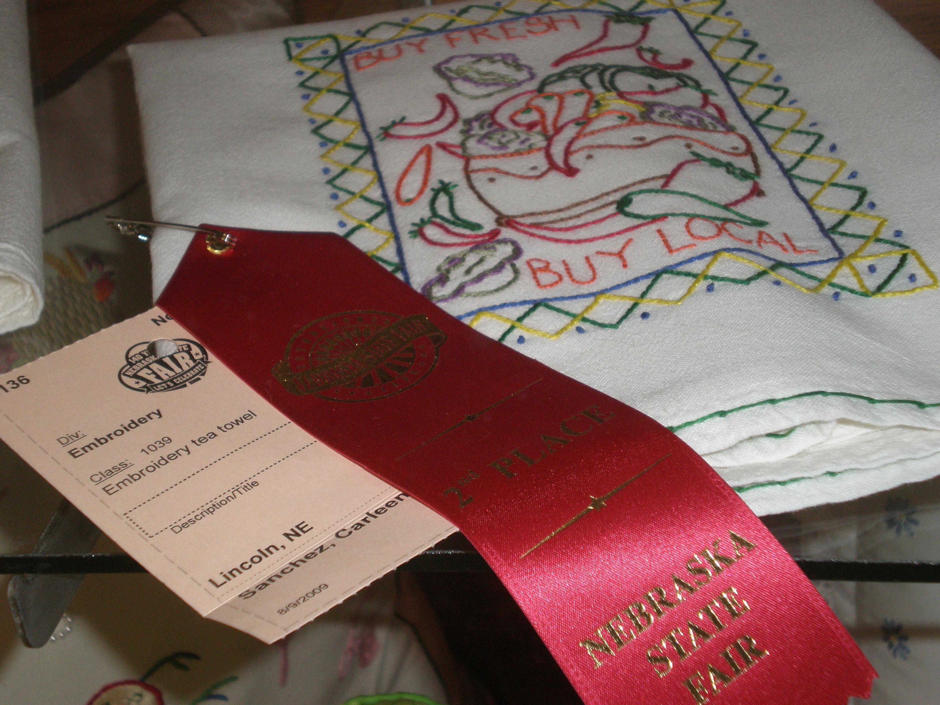 2nd place tea towel