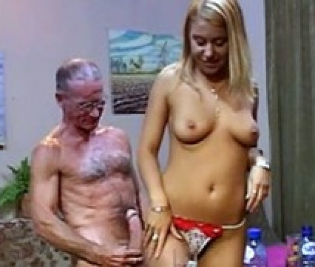 Blonde Babes Measuring Two Seniors Their Hard Erections