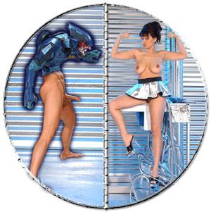 sexy female robot sci fi