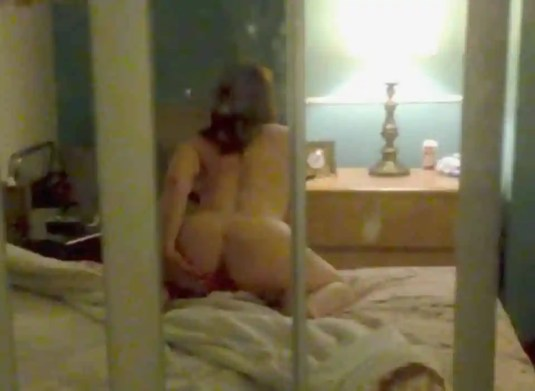 Real Exhibitionist Wife Strips Naked in Motel Window & Masturbates for Voyeurs