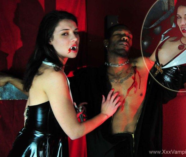Horny Vamp Bites Black Priest