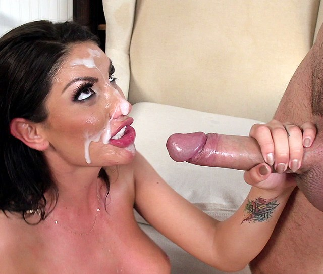 August Ames Gets A Huge Mess Of White Creamy Cum All Over Her Face Xxx Movies