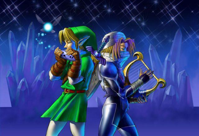 Dans The Legend of Zelda: Ocarina of Time, Link porte une tunique verte (et courte !) tandis que (massive spoiler !) la princesse Zelda se travestit en homme.