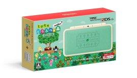New Nintendo 2DS LL Tobidase Doubutsu no Mori amiibo+ Pack