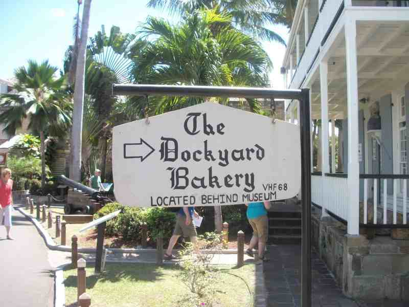Nelson's Dockyard the bakery