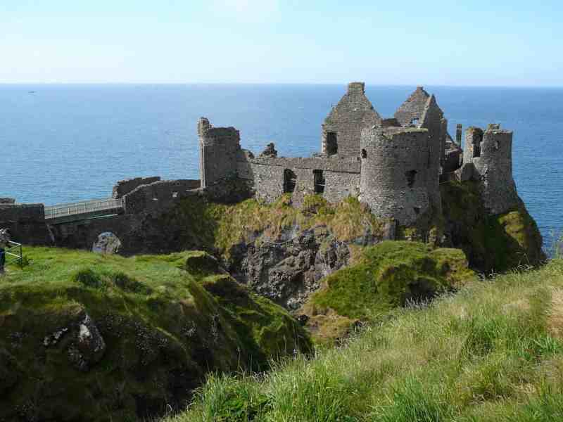 Driving the Northern Irish coast road and Dunluce comes around the bend