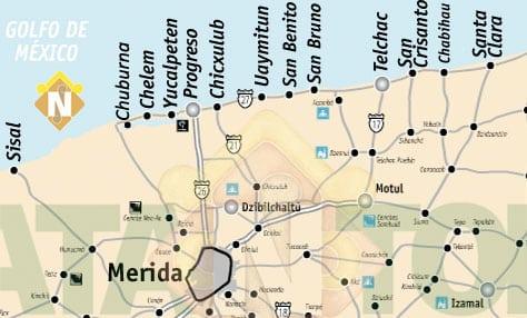 Progreso: Living the Ex-Pat Life in Mexico map of Progreso
