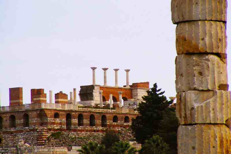 Columns that are left at the site of the Temple of Artemis