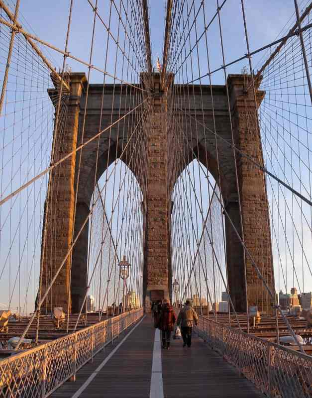 The iconic Brooklyn Bridge another great thing about NY