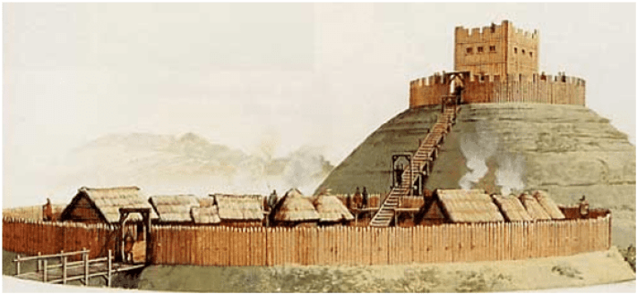 drawing of a rath or fairy fort as it would be known today