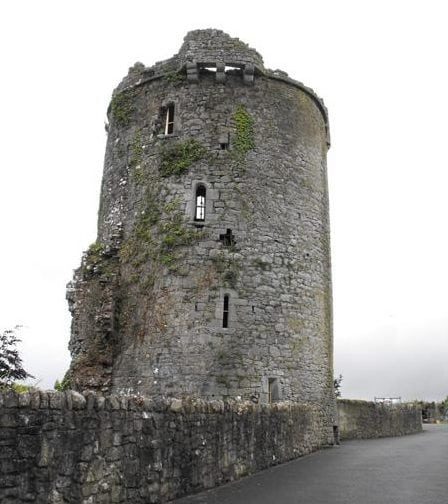 Synone Castle as seen when touring around Tipperary