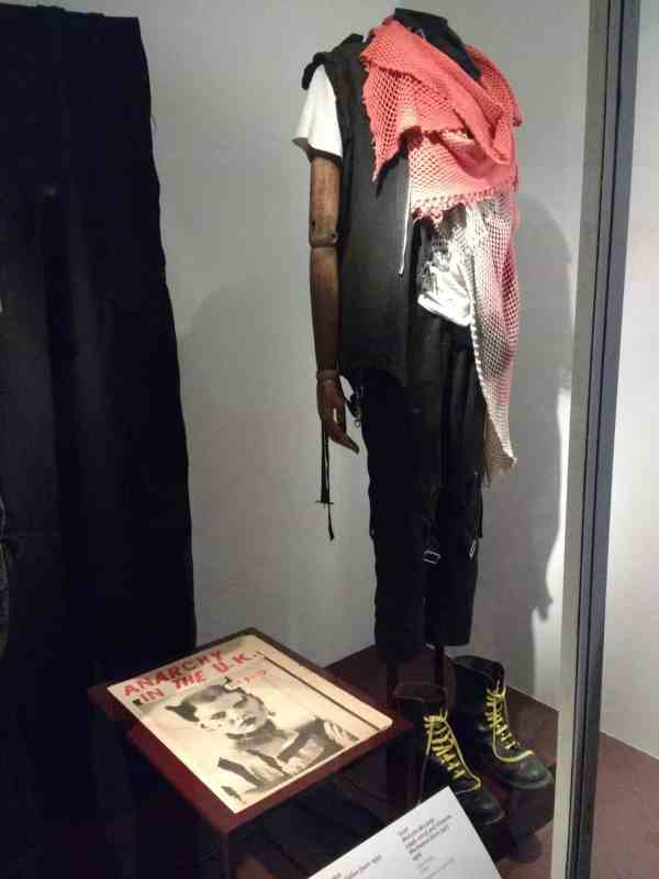 Malcolm McDowells Punk outfit in the V&A museum