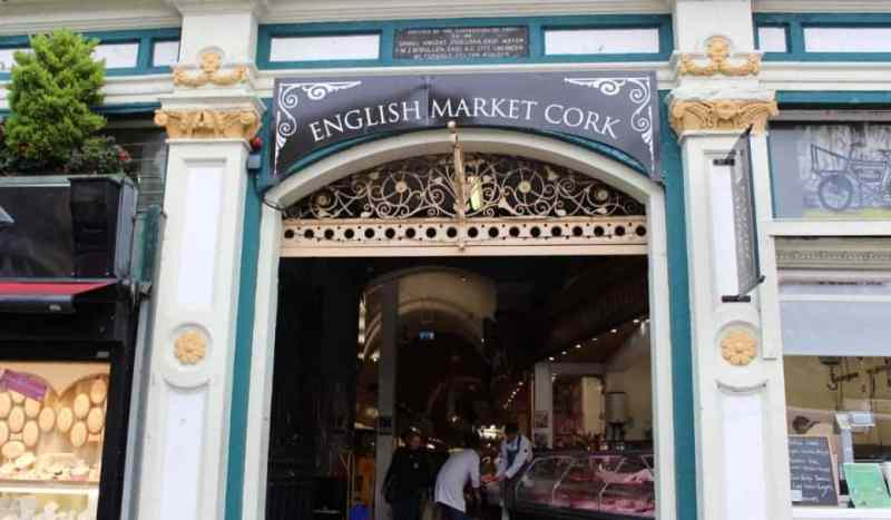 doorway to the English Market in Cork Ireland