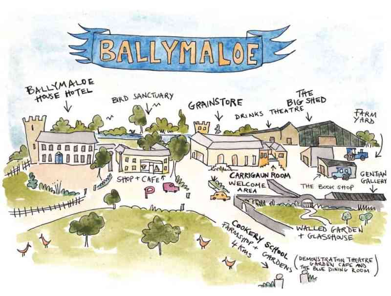 Ballymaloe graphic Ireland's famous foodie cooking school