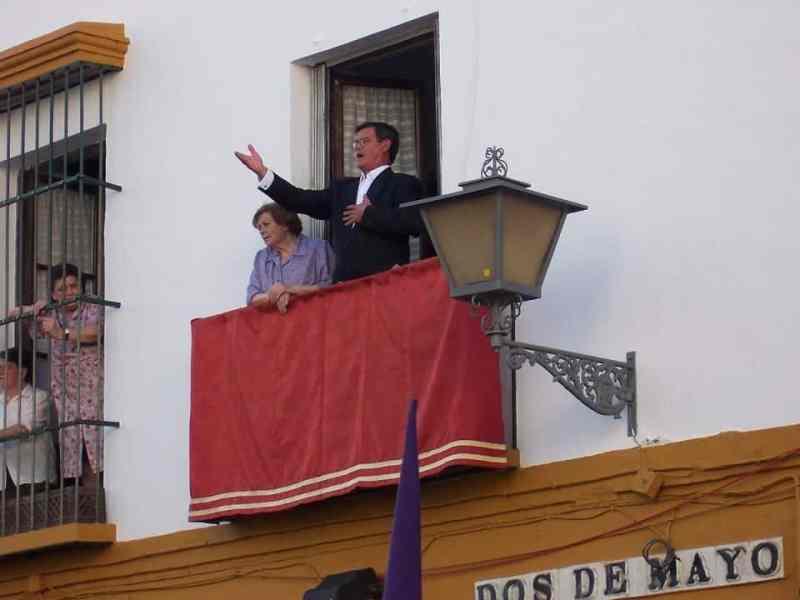 a Saeta singing for Semana Santa procession in Salobrena